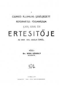 Évkönyv 1909-1910