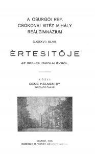 Évkönyv 1928-1929