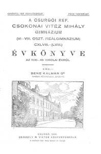 Évkönyv 1939-1940